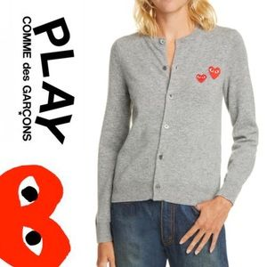 CDG Play • Wool Cardigan • NWT